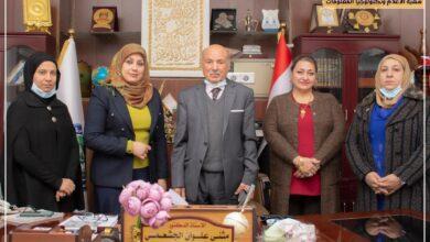 صورة استقبال وفد الاتحاد الدولي للمبدعين في العراق