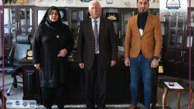 صورة مدير قسم البعثات والعلاقات الثقافية في جامعة واسط زارت الكوت الجامعة اليوم .