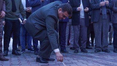 صورة كلية الحلة الجامعة تقف وقفة حداد على أرواح شهداء العراق