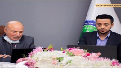 صورة زيارة السيد عميد الكلية للصفوف الالكترونية