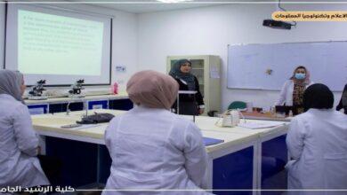 صورة زيارة معاون العميد للشؤون العلمية للاقسام لمتابعة سير العملية التعليمية