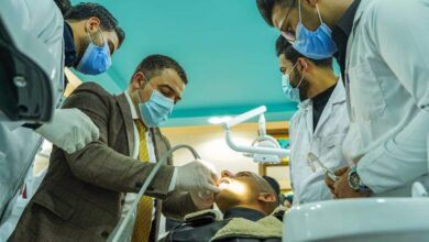 صورة بالصور:العيادات التعليمية لقسم طب الاسنان في كلية الحلة الجامعة تباشر عملها بأستقبال مرضى الاسنان