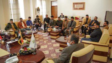 صورة لقاء عميد كلية الحلة الجامعة بأعضاء الانشطة الطلابية