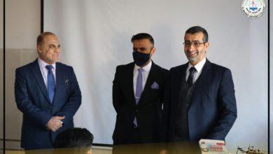 صورة لقاء السيد عميد كلية  المعارف الجامعة الأستاذ الدكتور يعقوب ناظم أحمد بطلبة المرحلة الأولى لقسم القانون
