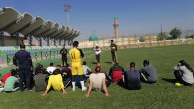 صورة جانب من المحاضرات العملية في قسم التربية البدنية وعلوم الرياضه فرع الصويرة