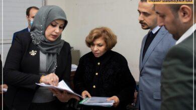 صورة زيارة اللجنة المشكلة من قبل جهاز الاشراف و التقويم العلمي لكلية الرشيد الجامعة
