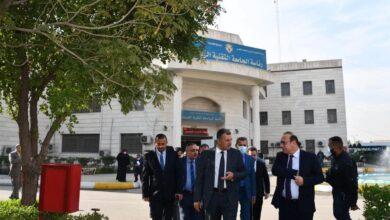 صورة السيد رئيس جامعة دهوك التقنية والوفد المرافق له في ضيافة الجامعة التقنية الوسطى