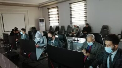 صورة انشاء غرفة عمليات لماتبعة الصفوف الالكترونية في كلية بلاد الرافدين الجامعة