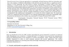 صورة مجلة سكوباس 1 ذات التصنيف العالمي تنشر بحثا في معايير الأمان اللاسلكي للتدريسي في الكوت الجامعة م.م. حسنين علي ذويب .