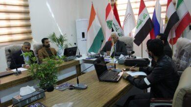 صورة مجلس إدارة الكوت الجامعة يعقد اجتماعا لمناقشة خطط التعليم الإلكتروني في الكلية اليوم .