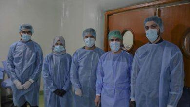 صورة اجرى المدرس الدكتور غسان نازك الدعمي اختصاص جراحة الوجه والفكين والتدريسي في كلية طب الاسنان جامعة الكفيل عملية جراحية لمريضة ثلاثينية