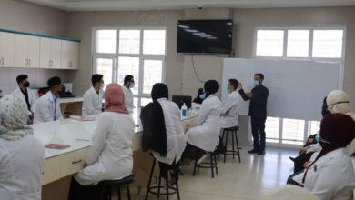 صورة زار المدرس الدكتور ابراهيم جودة صاحب رئيس فرع العلوم الاساسية في كلية طب الاسنان جامعة الكفيل