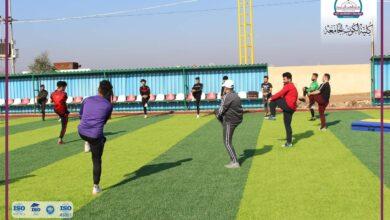 صورة جانب من محاضرات قسم التربية البدنية وعلوم الرياضة في كلية الكوت الجامعة اليوم