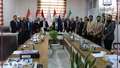 صورة زيارة فريق التعليم الالكتروني الوزاري لكلية الكوت الجامعة اليوم