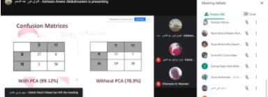 صورة تصنيف سرطان الثدي باستخدام تقنية التحول الخطي الغير قابلة للاشراف مع تقنية Cos Similartity Machine Learning