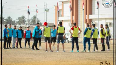 صورة جانب من المحاضرات العملية لقسم التربية البدنية وعلوم الرياضة ليوم الاربعاء الموافق 2021/1/13.