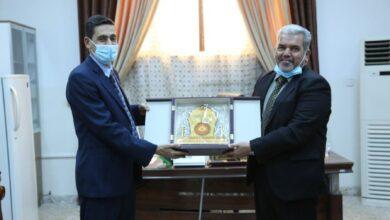 صورة كلية الطوسي الجامعة تستقبل وفد من جامعة جابر بن حيان الطبية