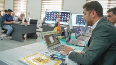 صورة انطلاق الامتحانات الالكترونية للعام الدراسي 2021-2022 في كلية الحلة الجامعة