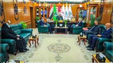 صورة جامعة العميد تستقبل وفداً اكاديمياً من جامعة كربلاء للإطلاع على نظم التعليم الألكتروني واللجان الامتحانية