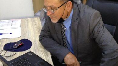 صورة عميد كلية شط العرب الجامعة يتفقد القاعات الإمتحانية لقسم اللغة الإنكليزية