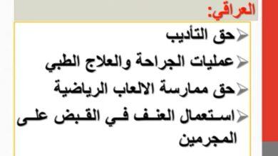 صورة مادة قانون العقوبات القسم العام  اسباب الاباحة  السبب الثاني  استعمال الحق  م.م حيدر علي ارحيم