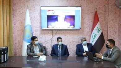صورة زيارة الفريق الوزاري المشرف على التعليم الالكتروني الى كلية الطوسي الجامعة
