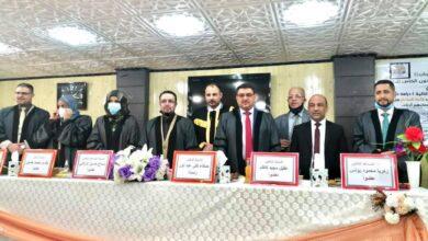 صورة عميد كلية الحلة الجامعة يشارك عضواً في لجنة مناقشة اطروحة دكتوراه بجامعة بابل
