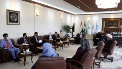 صورة اجتماع رئاسة جامعة الكفيل مع اللجنة العلمية لمؤتمر العلمي الدولي الثالث