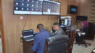 صورة رئيس جامعة القادسية يتفقد القاعات الامتحانية الالكترونية في عدد من كليات الجامعة