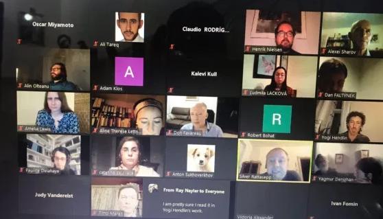 صورة تدريسي من جامعة كربلاء يشارك في مؤتمر الكتروني في براغ