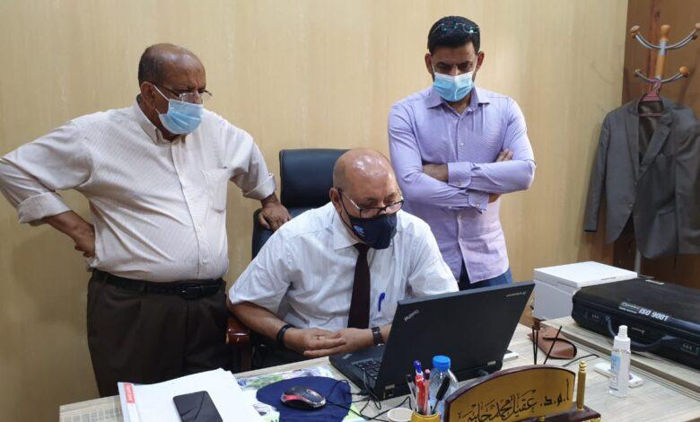 صورة السيد عميد كلية شط العرب الجامعة يتابع سير الإمتحانات الفصلية