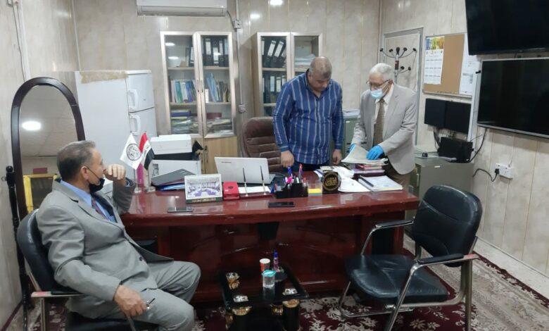 صورة عميد كلية شط العرب الجامعة يتفقد القاعات الإمتحانية لقسم المحاسبة