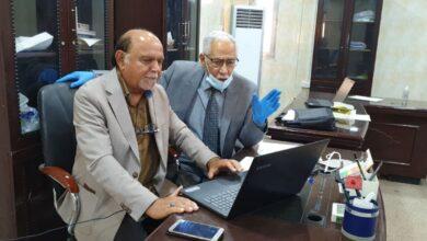 صورة عميد كلية شط العرب الجامعة يزور القاعات الإمتحانية  لقسم أدارة الأعمال