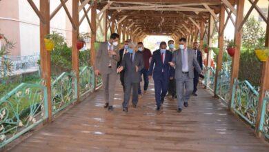 صورة رئيس جامعة القادسية يتابع سير الامتحانات الحضورية لطلبة الدراسات العليا