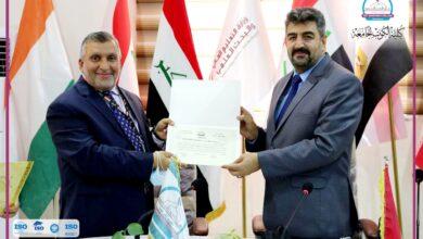 صورة رئيس جامعة واسط الأستاذ الدكتور مازن الحسني يزور كلية الكوت الجامعة .