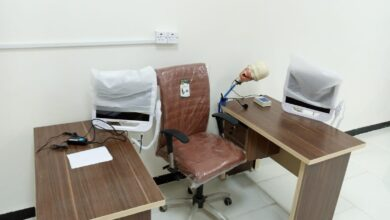 صورة استحداث مختبر اشعة الاسنان  والذي يحوي على اربعة اجهزة متخصصة باشعة الاسنان  اثنان منها يعمل بالطريقة التقلديية الفلم الجاهز الردميت  والاثنان الاخران المتطوران من النوع الحساس السنسر