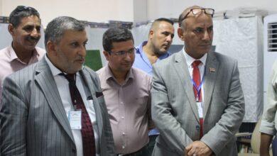 صورة افتتاح معرض الكوت الدولي الأول للكتاب في الكوت الجامعة اليوم .