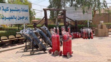 صورة كلية الهندسة بجامعة القادسية تشهد حملة واسعة لتأمينها من مخاطر الحرائق