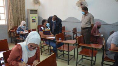 صورة جامعة القادسية تؤدي الامتحان التنافسي في اليوم الثاني للمتقدمين للدراسات العليا للكليات العلمية