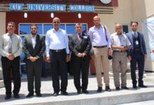 صورة وفد نقابة المهندسين يزور الكوت الجامعة اليوم .