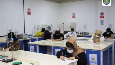 صورة انطلاق الامتحانات النهائية العملي لطلبة الكلية الرشيد الجامعة