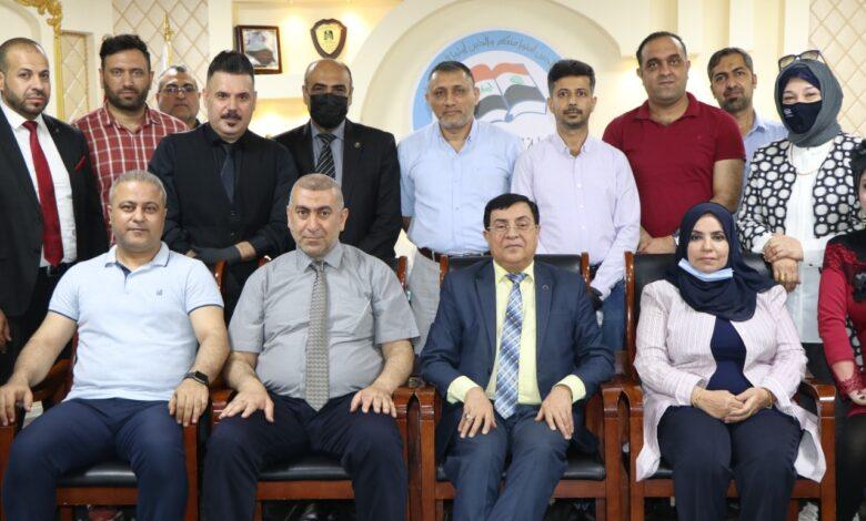 صورة لقاء ممثلي كلية شط العرب الجامعة مع الفريق الوزاري للتعليم الالكتروني