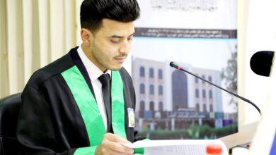 صورة تدريسي في اقسام واسط يرفد مكتبة الكلية بمولف جديد
