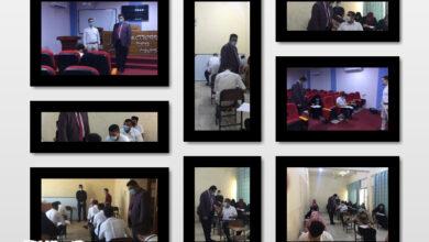 صورة بانسيابيه عالية …استمرار الامتحانات الحضورية لأقسام واسط