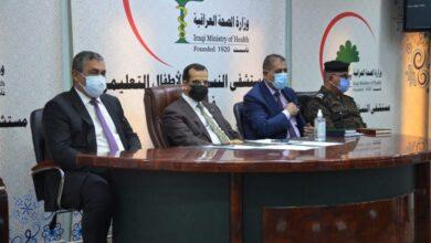 صورة رئيس جامعة القادسية يحضر اجتماع خلية الازمة مع السيد محافظ الديوانية ومدراء الدوائر في المحافظة