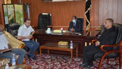 صورة اجتماع لجنة السلامة وإدارة المخاطر في جامعة القادسية