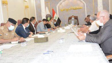 صورة السيد رئيس جامعة القادسية يشارك في اجتماع خلية الأزمة في محافظة الديوانية