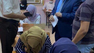 صورة زيارة عضو الفريق الوزاري للتعليم الحضوري و الالكتروني للقاعات الامتحانية لكليات جامعة القادسية