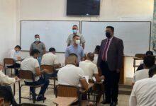 صورة بالصور …اقسام واسط تجري الامتحانات  الحضورية وسط إجراءات صحية مشددة