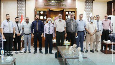 صورة جامعة العين تستقبل لجنة من نقابة المهندسين المقر العام